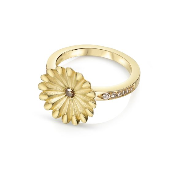 Aditi Lotus Diamond Radial Ring
