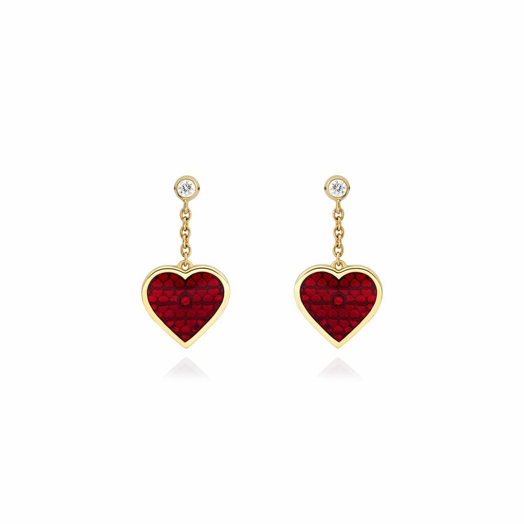 Heart Earrings by Raliegh Goss