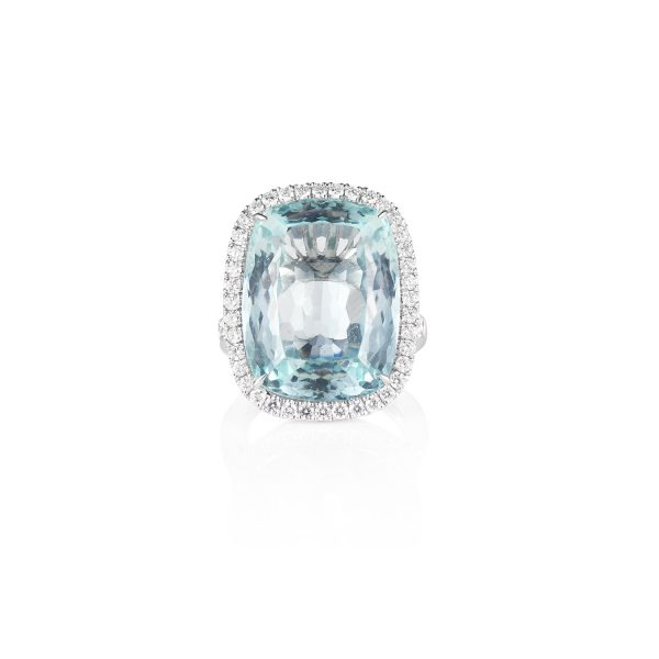 Aquamarine Cocktail Ring by Olivia Grace