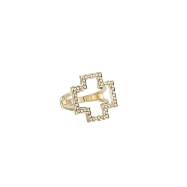Cross Ring by Sandrine de Laage