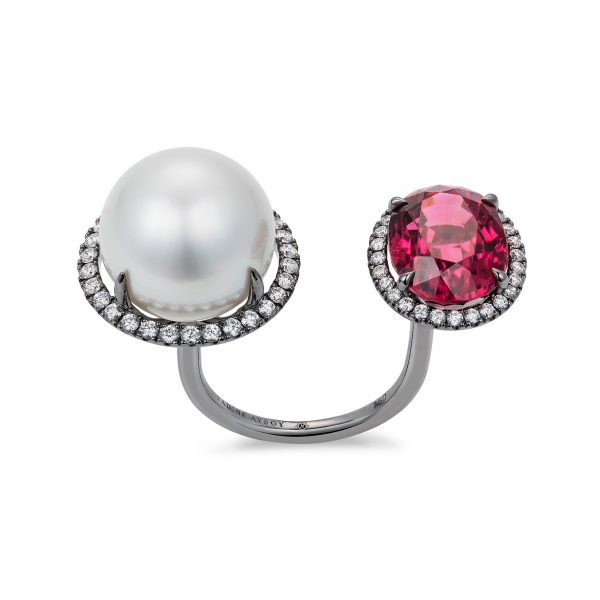 Elle et Lui Rubellite Ring by Nadine Aysoy