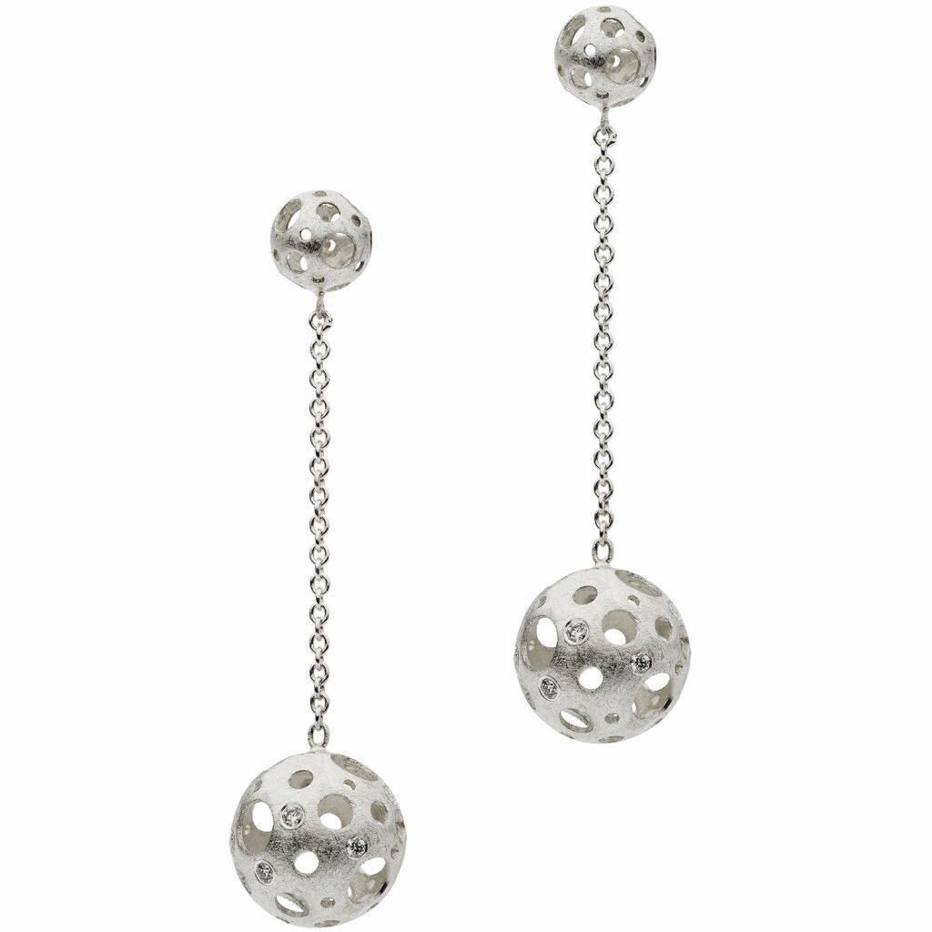 Full Moon Drop Earrings by Muscari