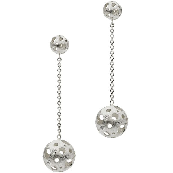 Full Moon Drop Earrings by Muscari
