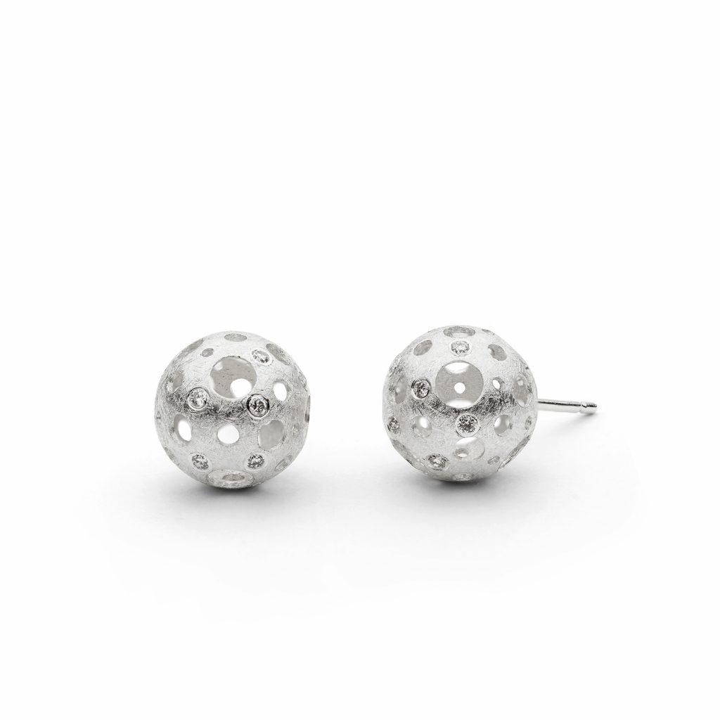 Full Moon Stud Earrings by Muscari