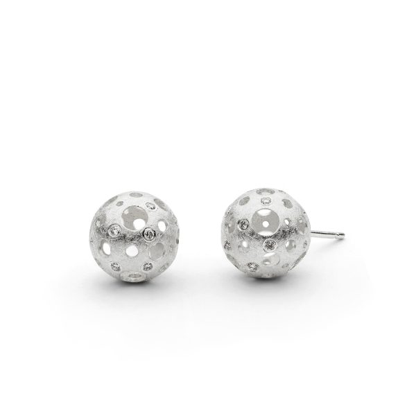 Full Moon Stud Earrings by Muscari