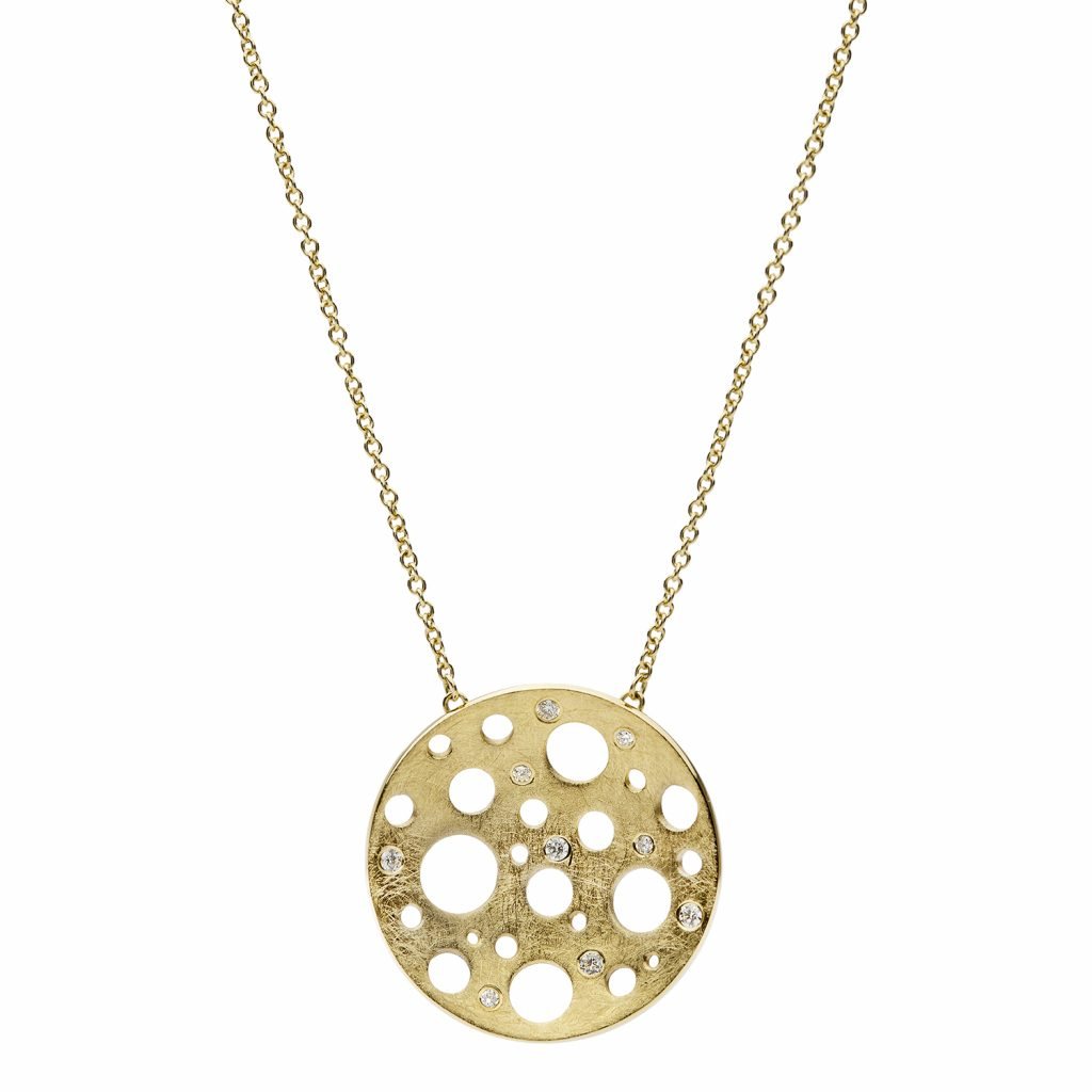 Golden Round Large Necklace by Muscari