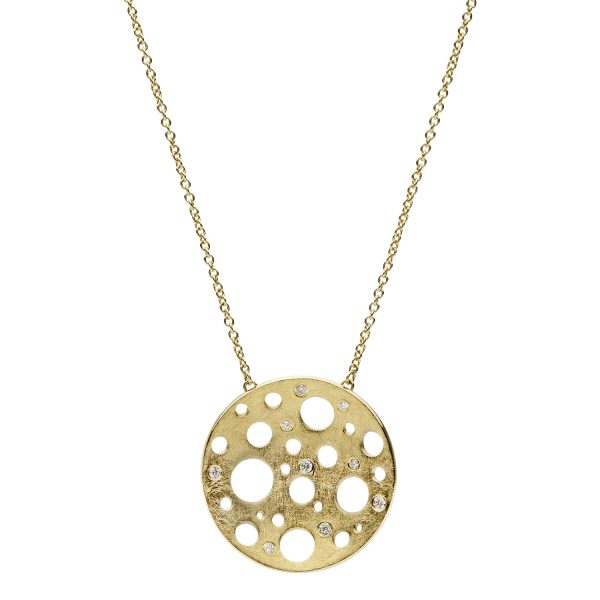 Golden Round Large Necklace
