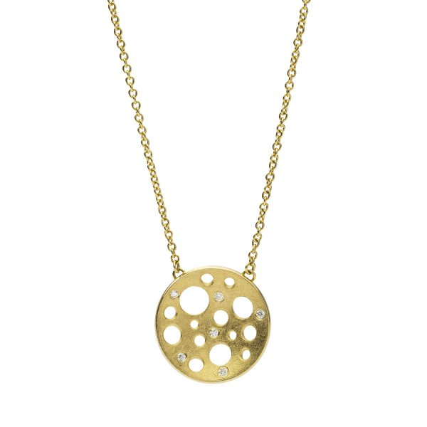 Golden Round Small Necklace by Muscari