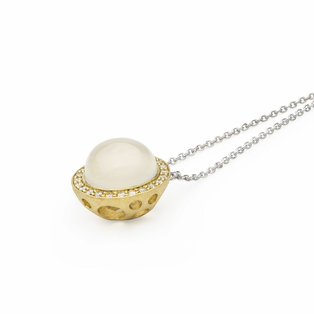 Half White Moon Necklace by Muscari