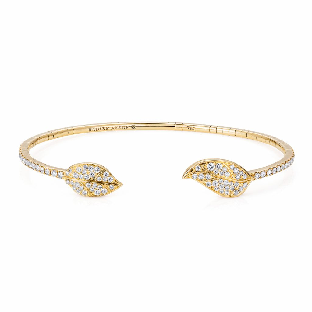 Petites Feuilles Gold Bracelet by Nadine Aysoy