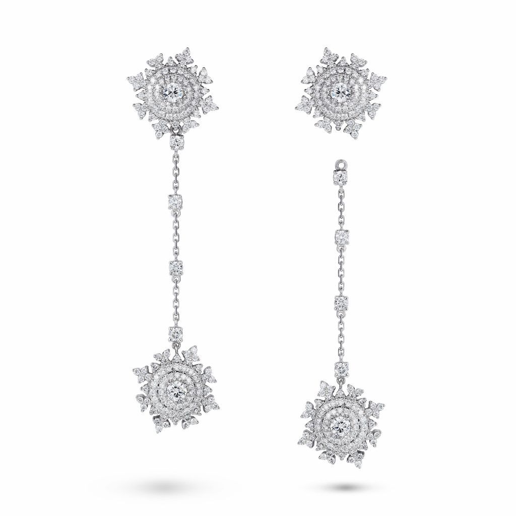 Petite Tsarina White Gold Earrings by Nadine Aysoy