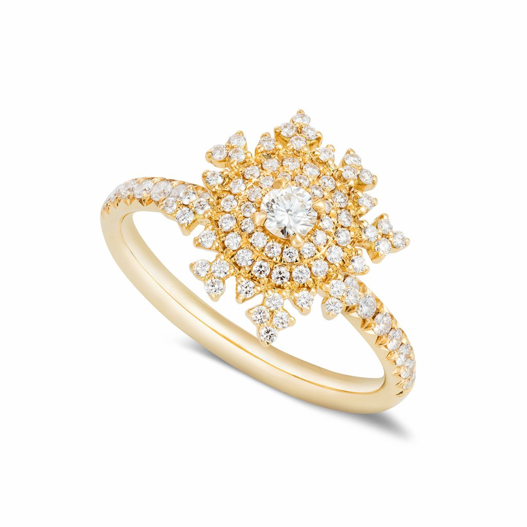 Petite Tsarina Gold Ring by Nadine Aysoy