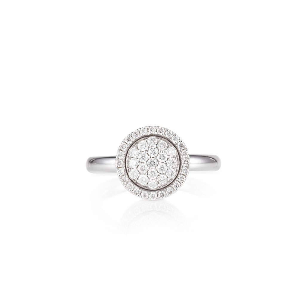 Venezia White Diamond Small Ring