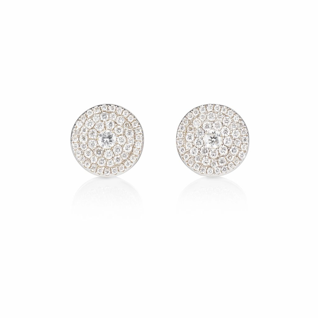 Venezia White Diamond Earrings