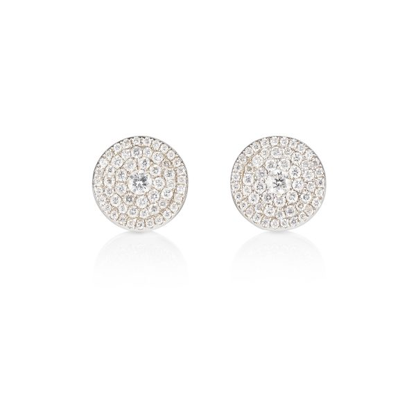 Venezia White Diamond Earrings by Olivia Grace