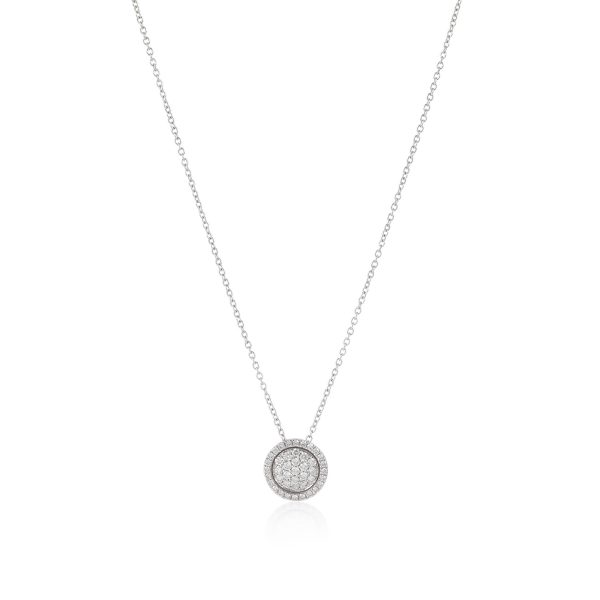 Venezia White Diamond Small Pendant by Olivia Grace