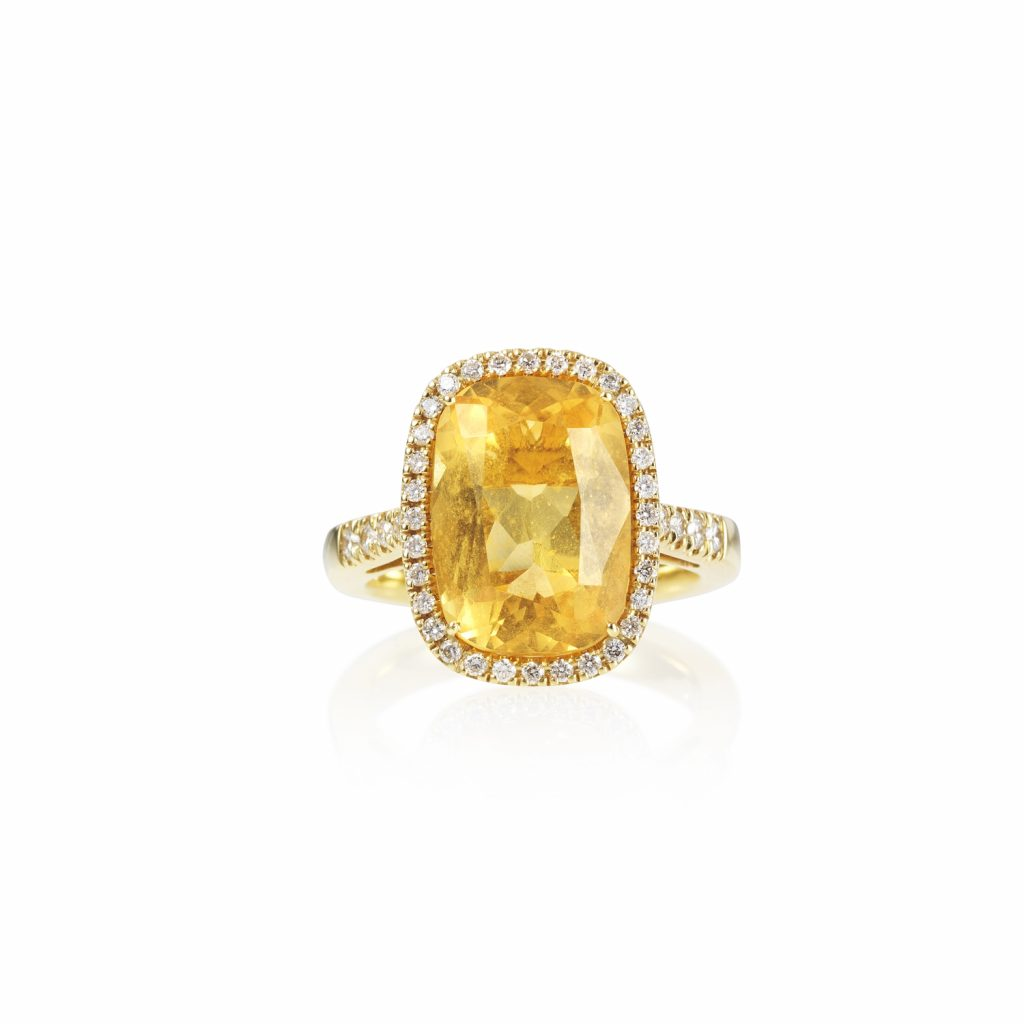 Limoni Yellow Gold and Diamond Ring by Olivia Grace
