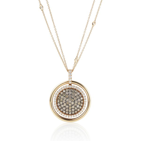 Venezia Rose Gold Large Pendant by Olivia Grace
