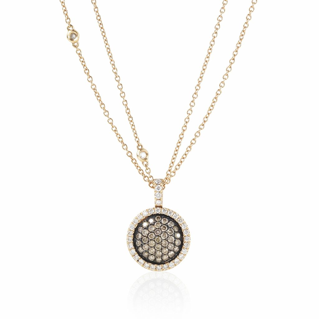 Venezia Rose Gold Medium Pendant by Olivia Grace