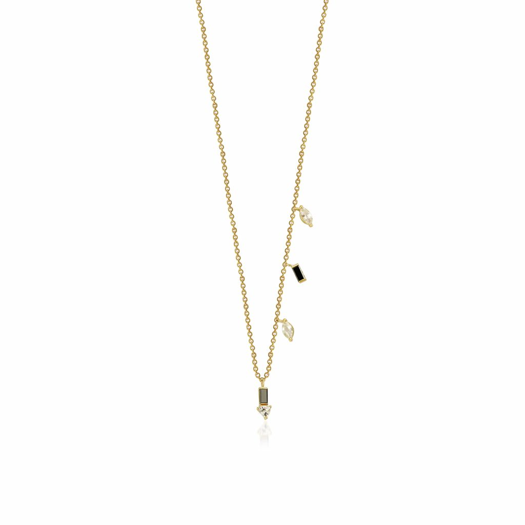 Eline Black Diamond Necklace
