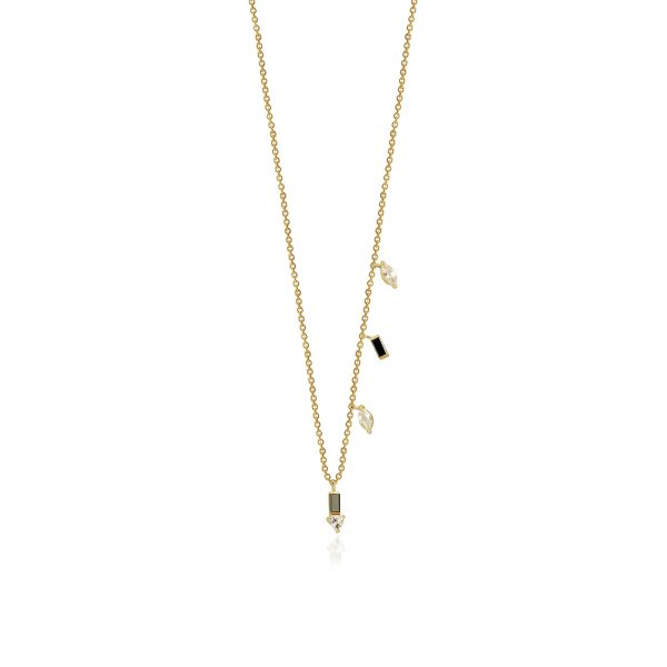 Eline Black Diamond Necklace by GFG Jewellery