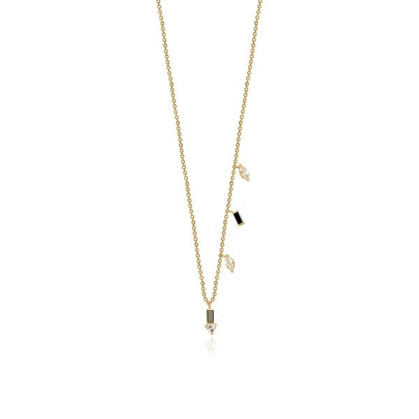 Eline Black Diamond Necklace by GFG Jewellery