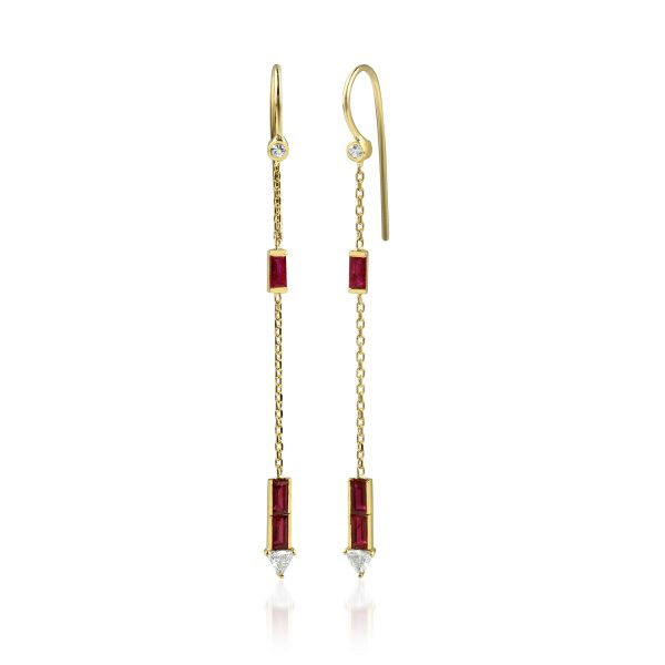 Eline Ruby Earrings by GFG Jewellery