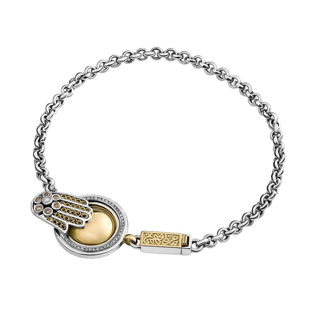 Coin and Hand Bracelet by Azza Fahmy