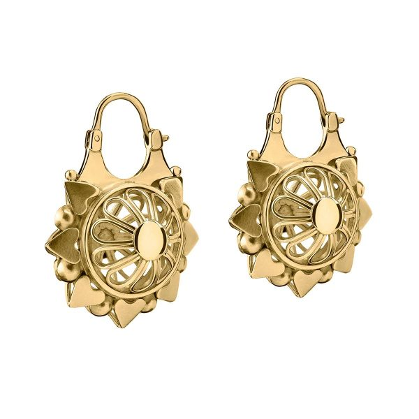 Gold Basket Earrings by Azza Fahmy