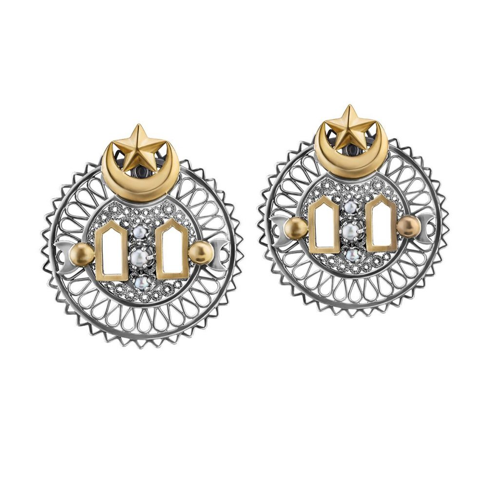 Filigree Window Earrings by Azza Fahmy