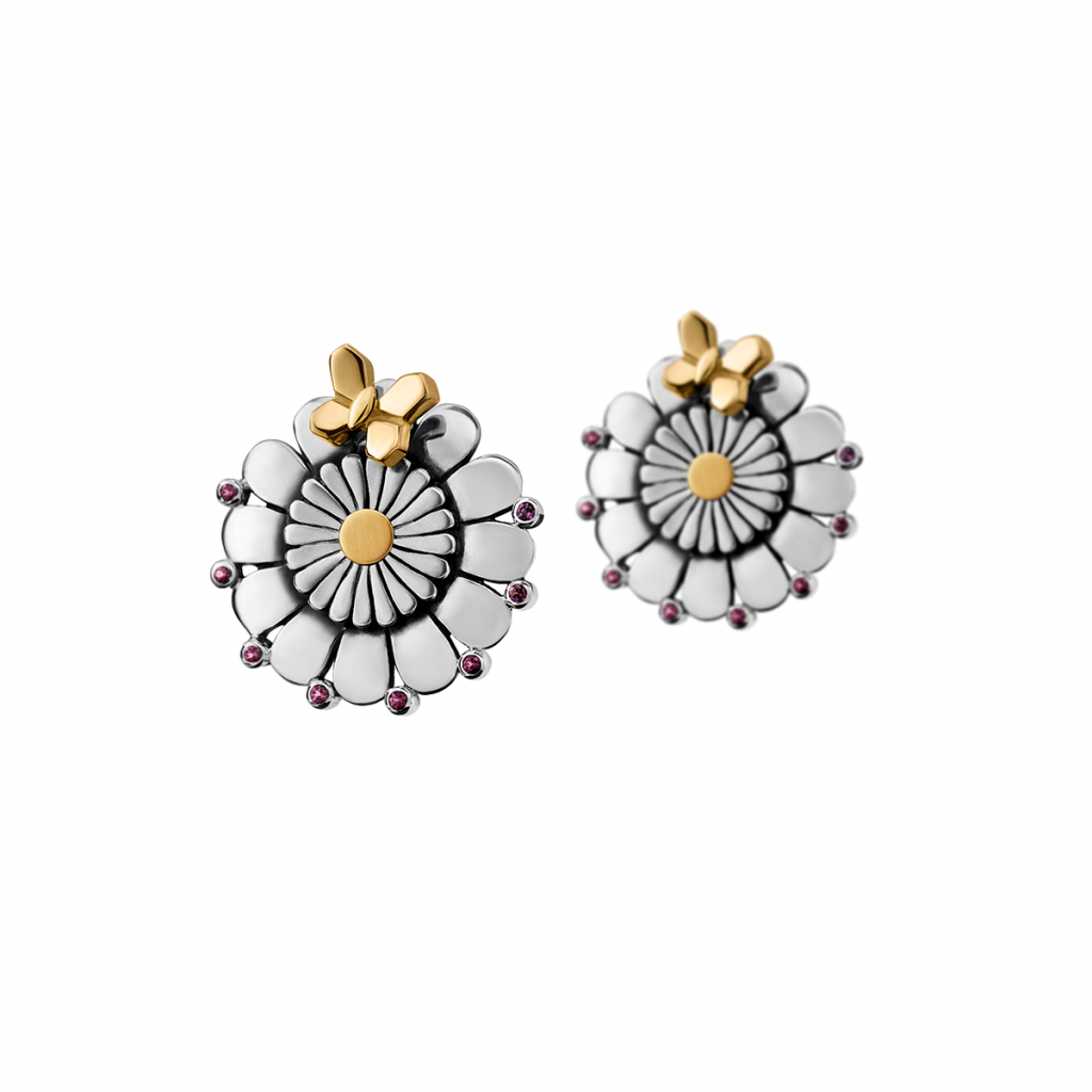 Flower Stud Earrings by Azza Fahmy