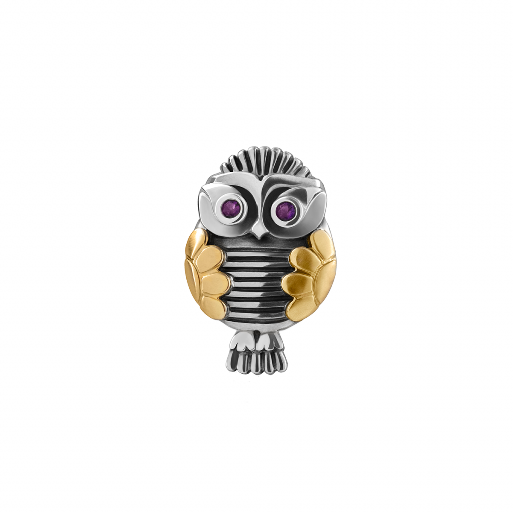 Owl Brooch by Azza Fahmy