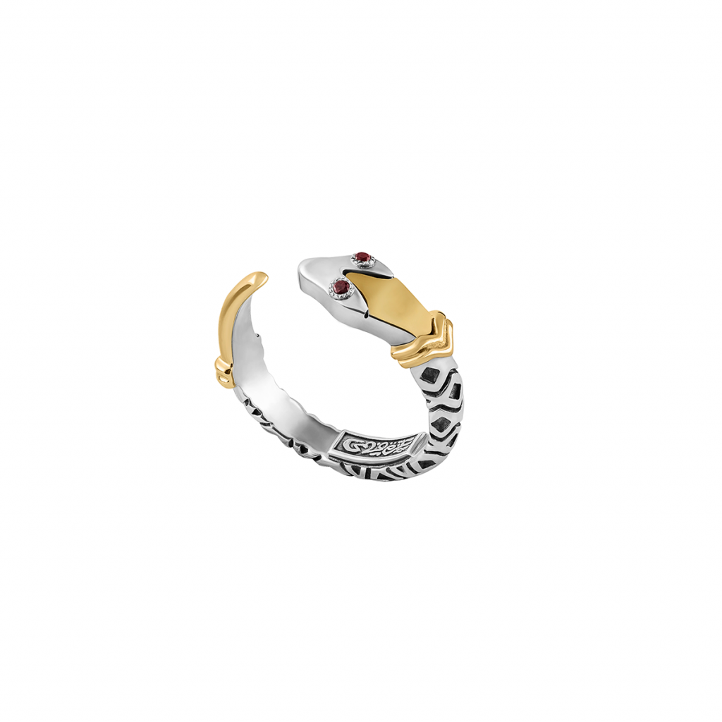 Stackable Snake Ring by Azza Fahmy