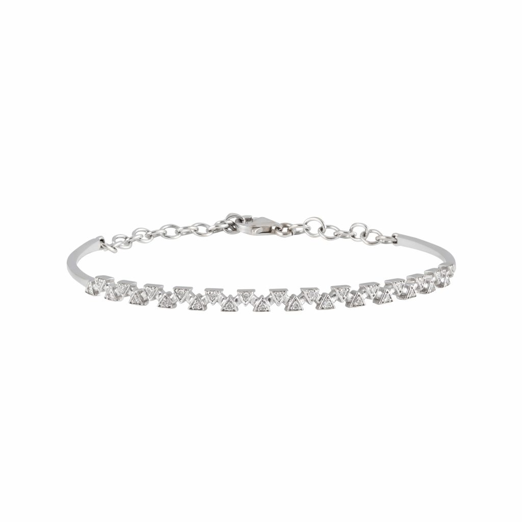 Sparks Bangle – White Gold by Daou Jewellery