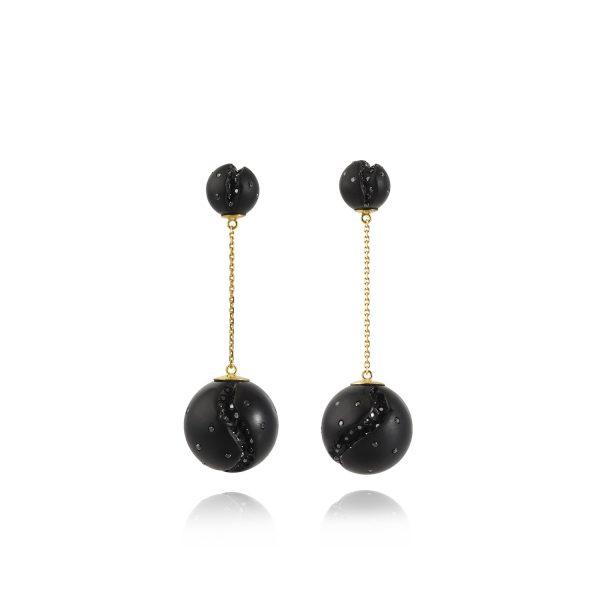 Atomic Mini Disco Ball Earrings by Jacqueline Cullen