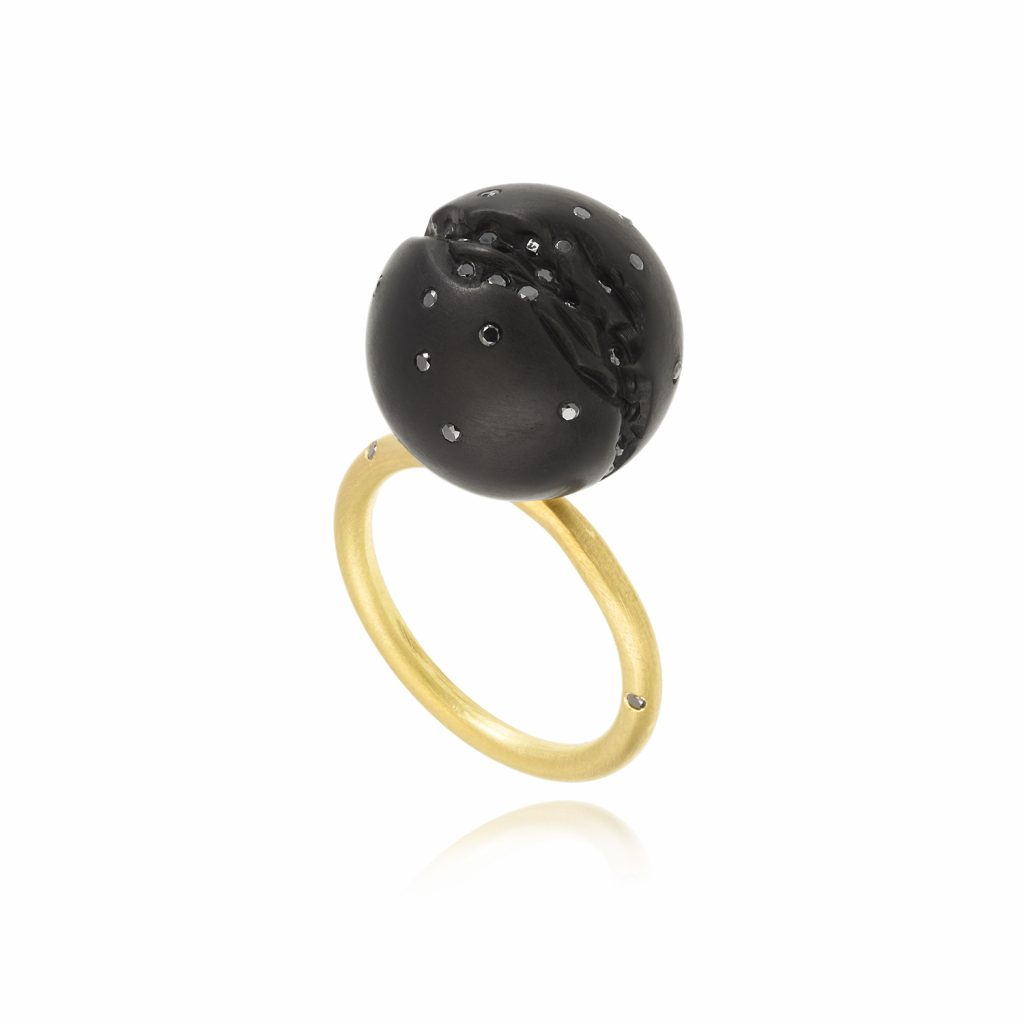 Atomic Single Sphere Ring by Jacqueline Cullen