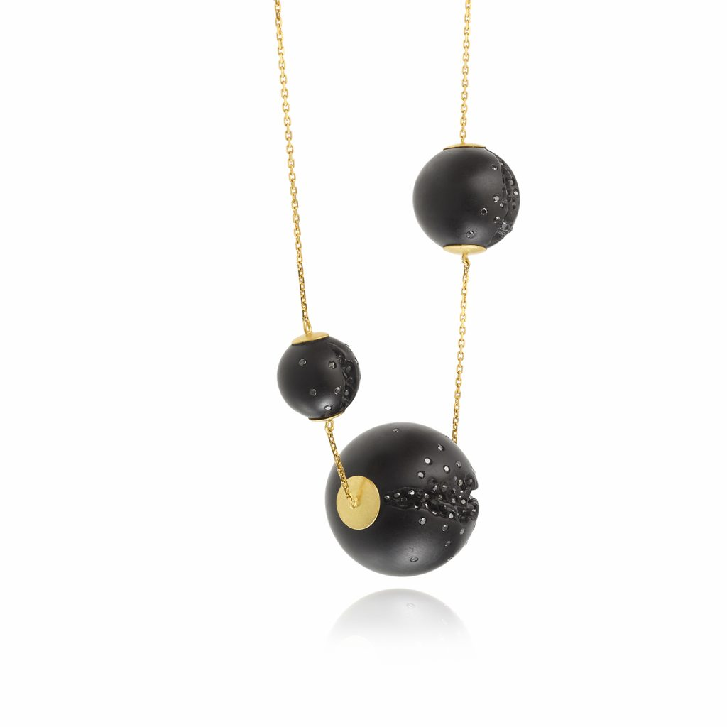 Atomic Triple Sphere Necklace by Jacqueline Cullen