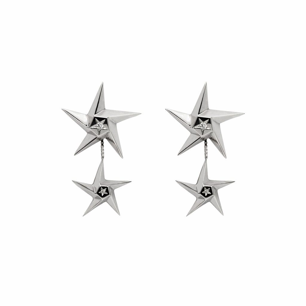 Star Drop Earrings by Daou Jewellery