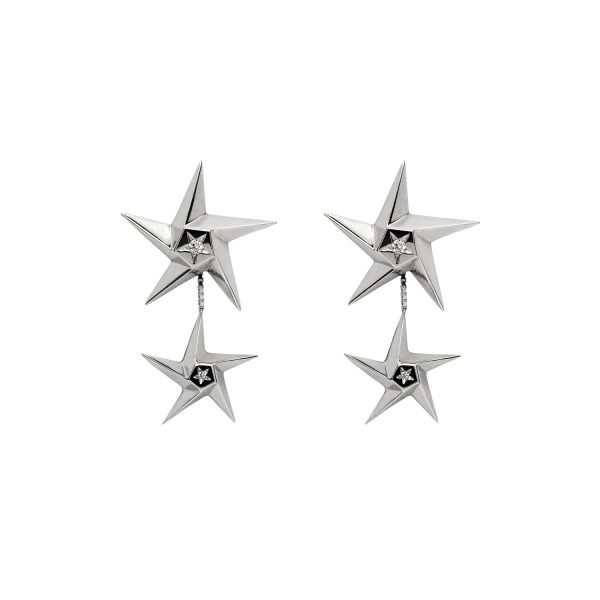 Star Drop Earrings by Daou Jewellery