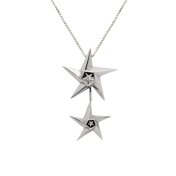 Star Drop Pendant by Daou Jewellery