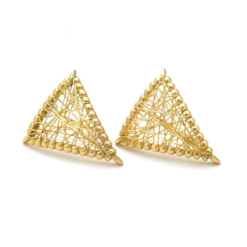 Sybil Shield Studs by Lola Fenhirst
