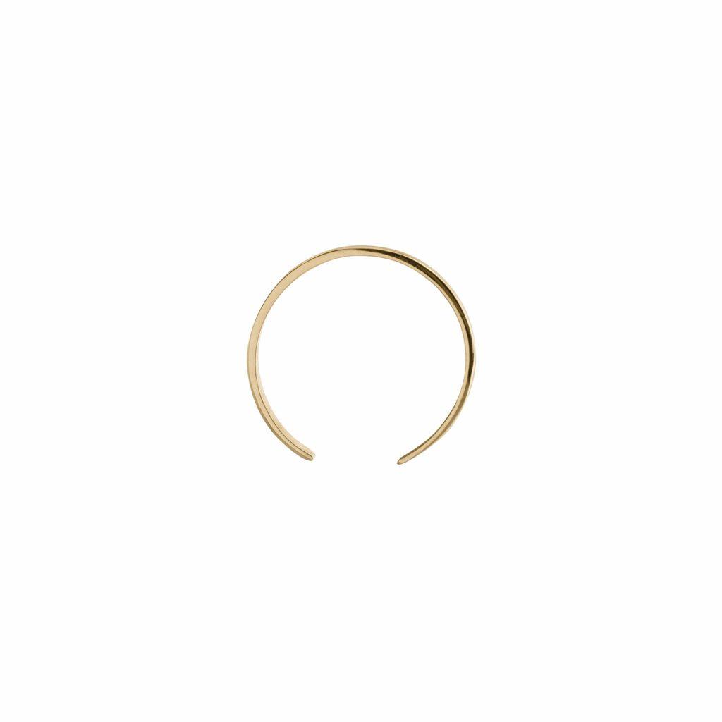 Single Large Curve Earrings by EKRIA