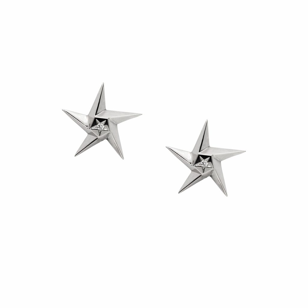 White Star Earrings by Daou Jewellery