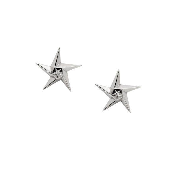 White Star Earrings by Daou Jewellery
