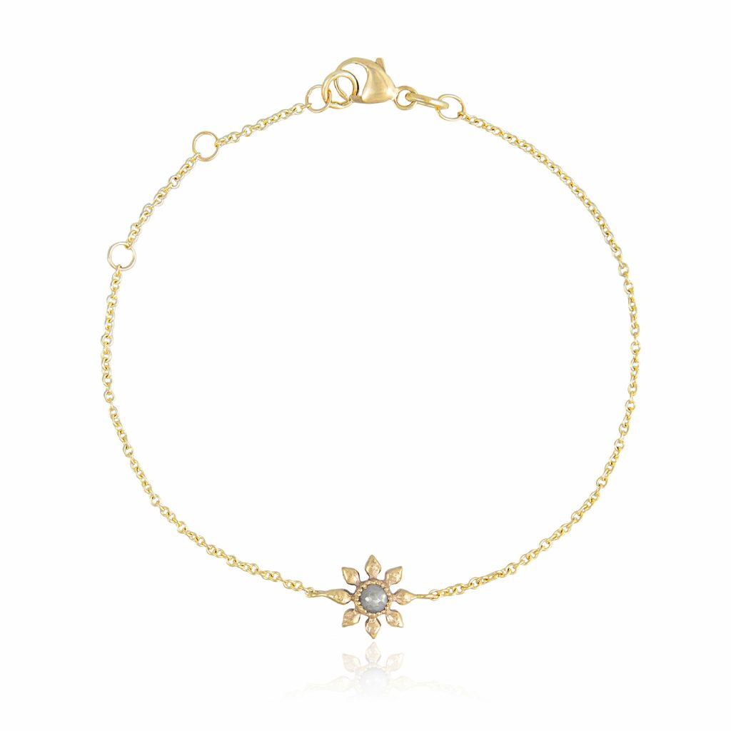 Diamond Flower Bracelet by Natalie Perry