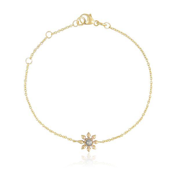 Diamond Flower Bracelet by Natalie Perry