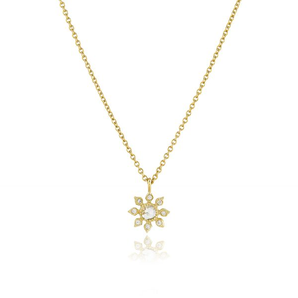 Diamond Flower Necklace by Natalie Perry