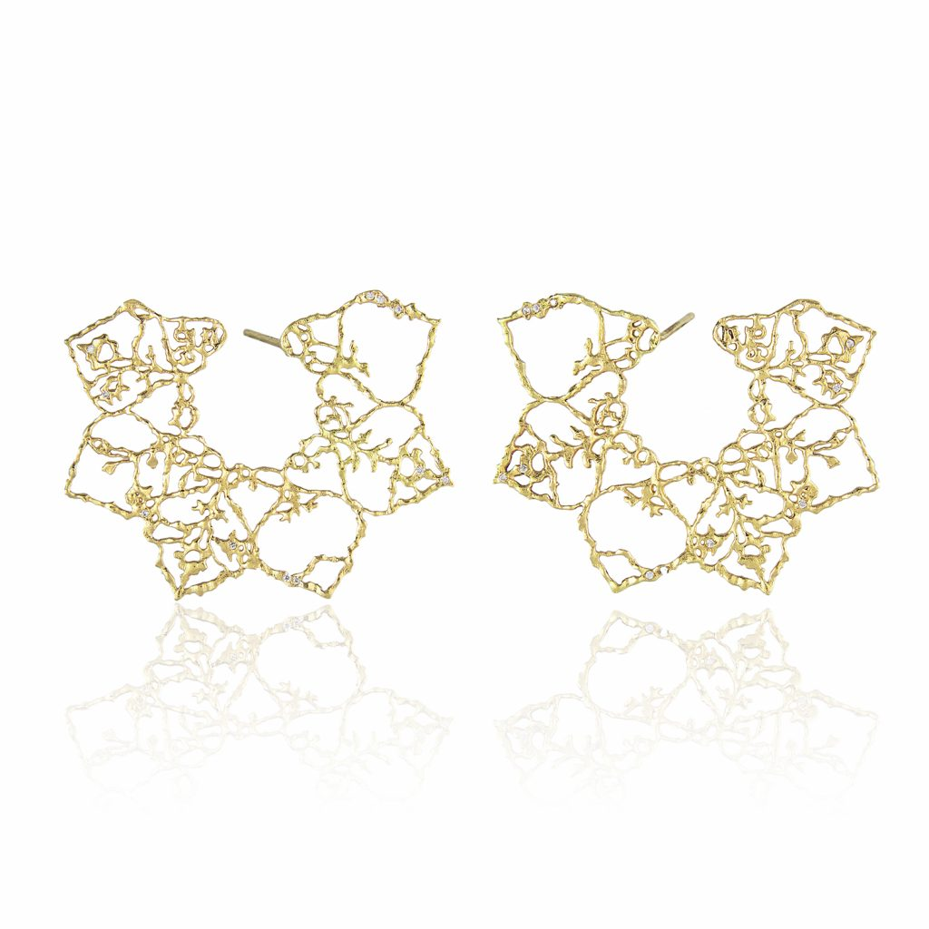 Lace Flower Earrings by Natalie Perry