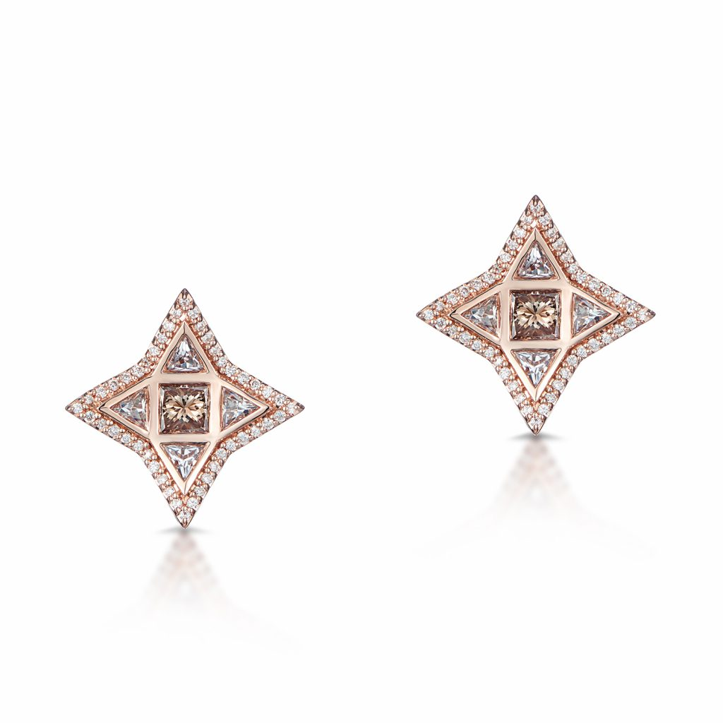 Trinity Studs in Rose Gold by Leyla Abdollahi