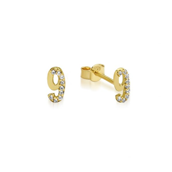Numerology Stud (Earrings) by GFG Jewellery